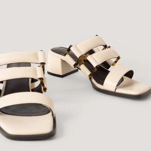 Chunky kitten heel sandals